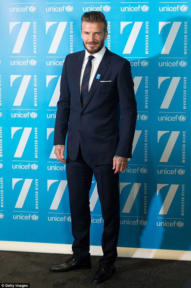 Ten years: David is celebrating a decade as a UNICEF ambassador, and his new campaign will focus on helping vulnerable children in seven of the most at-risk nations
