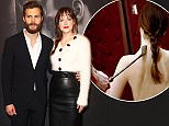 Celebrity arrivals at the 'Fifty Shades of Grey' Premiere in NYC.  Pictured: Jamie Dornan and Dakota Johnson Ref: SPL943824  060215   Picture by: Richie Buxo / Splash News  Splash News and Pictures Los Angeles: 310-821-2666 New York: 212-619-2666 London: 870-934-2666 photodesk@splashnews.com