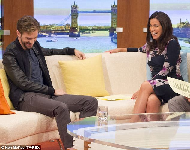 Faux pas: In September, the GMB studio descended into giggles after actor Dan Stevens took host Susanna's interview question - 'Did you have to beat off a lot of American men to get this part?' - the wrong way
