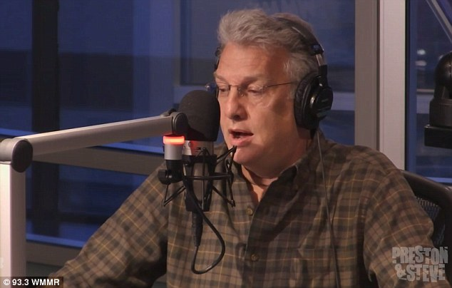 Big reveal: Marc Summers appeared on radio showWWMR's Preston and Steve on Monday morning and spoke about how he has been battling chronic lymphocytic leukemia for the last five years
