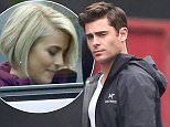 UK CLIENTS MUST CREDIT: AKM-GSI ONLY EXCLUSIVE: It was another day on set for the stars of upcoming comedy 'Dirty Grandpa' as the cast and crew prepped for a wedding scene. Actors Zac Efron and Julianne Hough headed to and from base camp in casual clothing, while Dermot Mulroney was already suited up in his character's costume.  Pictured: Zac Efron Ref: SPL947364  090215   EXCLUSIVE Picture by: AKM-GSI / Splash News