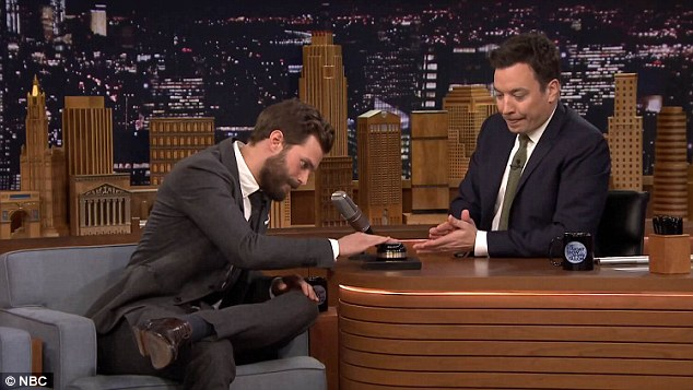 Game: Jamie and Jimmy played a game called Fifty Accents of Grey, in which both men had to read quotes from the novel in different accents