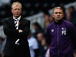 DERBY, ENGLAND - OCTOBER 25:  Steve McClaren, manager of Derby County and Paul Simpson, First Team Coach look on during the Sky Bet Championship match between Derby County and Wigan Athletic at the iPro Stadium on October 25, 2014 in Derby, England.  (Photo by Matthew Lewis/Getty Images)