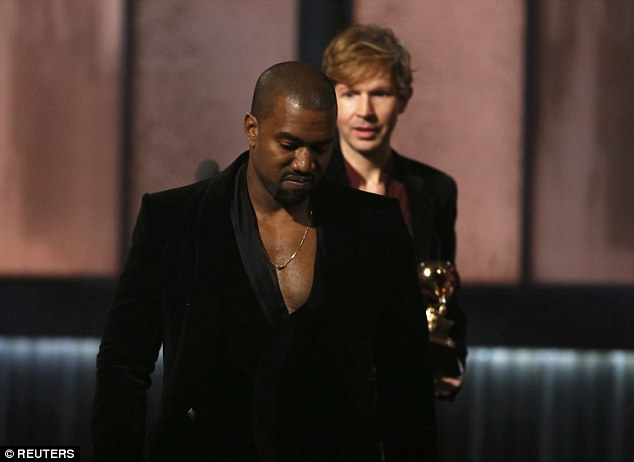 Picking the wrong fight? Kanye West received a huge backlash after claiming Beck did not 'respect artistry' and claimed he should have given his award up to Beyonce