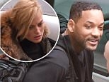 February 10, 2015: Will Smith seen arriving at Heathrow Airport in London UK ahead of the premiere for Focus.  Mandatory Credit: NFphoto.com Ref.: infusny-05/42