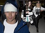 Joey Essex, winner of 'The Jump' along with other celebrities pictured arriving home in London, UK.  Ref: SPL931595  100215   Picture by: Jesal / Splash News  Splash News and Pictures Los Angeles: 310-821-2666 New York: 212-619-2666 London: 870-934-2666 photodesk@splashnews.com