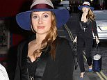 LONDON, UNITED KINGDOM - FEBRUARY 10: Rosie Fortescue seen arriving at the Ham Yard Hotel on February 10, 2015 in London, England. (Photo by Neil Mockford/Alex Huckle/GC Images)