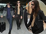 Mandatory Credit: Photo by REX (4425464b)  James Righton and Keira Knightley  Keira Knightley and James Righton at Heathrow Airport, London, Britain - 10 Feb 2015  Keira Knightley and James Righton fly out of Heathrow Airport to Los Angeles