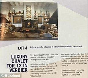 There was the promise of a luxury chalet for 12 in Verbier,