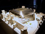 A model of the redeveloped Santiago Bernabeu