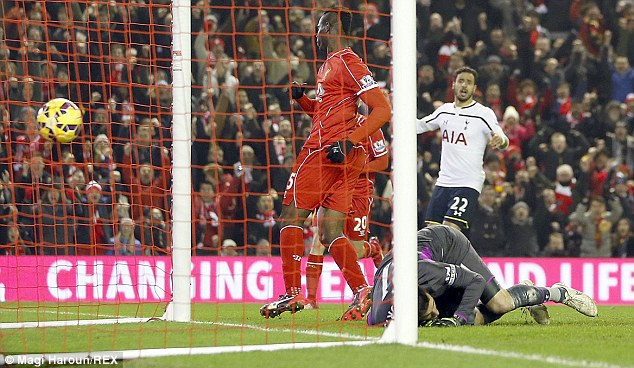 Mario Balotelli (left) sealed the victory late on by tapping in on 83 minutes to hand Liverpool the win