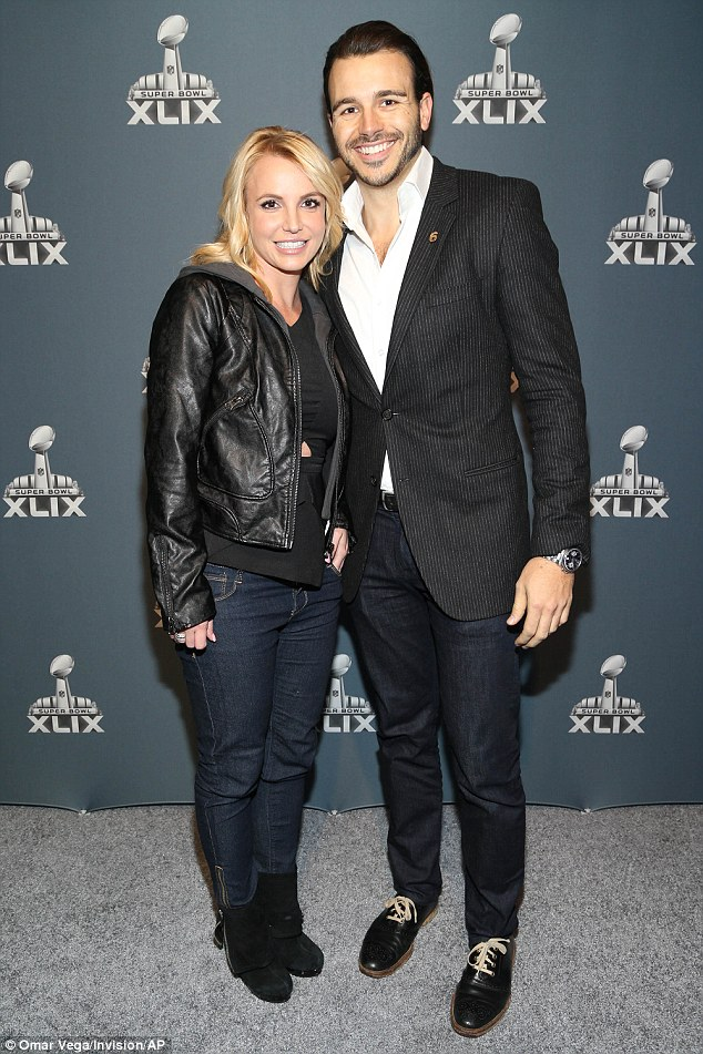 Will she spend Valentine's Day with her beau?: The If U Seek Amy songbird will have to also perform on Saturday, which is Valentine's Day, but perhaps her new boyfriend Charlie Ebersol, who she is pictured with here at the Super Bowl, will join her