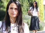 Jordanna Brewster was spotted out and about this afternoon on Melrose Drive in California