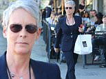 """EXCLUSIVE: Jamie Lee Curtis looks amazing as she strolls out of Joan's on Third cafe in Los Angeles.  The iconic """"Halloween"""" actress was seen carrying her leftovers in a pantsuit. \n\nPictured: Jamie Lee Curtis\nRef: SPL946838  090215   EXCLUSIVE\nPicture by: Sharky / Splash News\n\nSplash News and Pictures\nLos Angeles: 310-821-2666\nNew York: 212-619-2666\nLondon: 870-934-2666\nphotodesk@splashnews.com\n"""