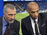 Sky Sports pundits Graeme Souness (left) and Thierry Henry analyse a recent televised game