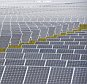 MAIDEN, NC - JULY 22: Solar panels at Apple Data Center pictured on July 22, 2014 in Maiden, North Carolina.\n\nRunning entirely on renewable energy, the Apple Data Center reduces energy consumption and greenhouse emission.\n\nPHOTOGRAPH BY Xinhua /Landov / Barcroft Media\n\nUK Office, London.\nT +44 845 370 2233\nW www.barcroftmedia.com\n\nUSA Office, New York City.\nT +1 212 796 2458\nW www.barcroftusa.com\n\nIndian Office, Delhi.\nT +91 11 4053 2429\nW www.barcroftindia.com