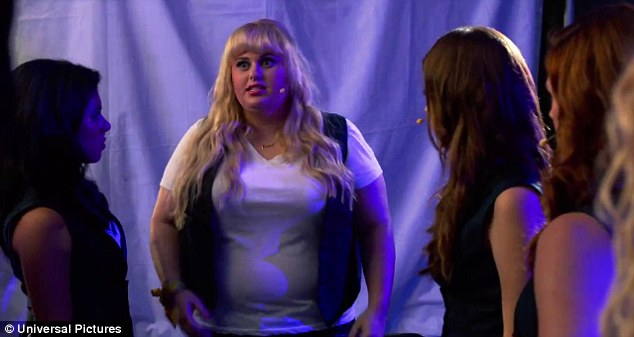 """Talented:Wearing matching monochrome outfits including sleek black vests, the group dance on stage in sync to Beyonce's Run The World (Girls) before Fat Amy candidly confesses backstage: 'They're going to look at us, Team USA, and be like """"why is the most talented one Australian?""""'"""