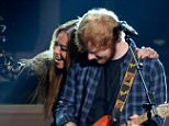 LOS ANGELES, CA - FEBRUARY 10:  Recording artists Ed Sheeran (L) and Beyonce perform onstage during Stevie Wonder: Songs In The Key Of Life - An All-Star GRAMMY Salute at Nokia Theatre L.A. Live on February 10, 2015 in Los Angeles, California.  (Photo by Kevork Djansezian/Getty Images)