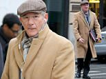 10.FEBRUARY.2015 - NEW YORK - USA AMERICAN ACTOR RICHARD GERE LOOKS DAPPER ON THE SET OF OPPENHEIMER STRATEGIES FILMING ON MADISON AVENUE IN UPTOWN MANHATTAN. RICHARD WEARING A FLAT CAP WITH A LONG COAT, GLASSES, SCARF AND CARRYING A BLACK BAG. BYLINE MUST READ : XPOSUREPHOTOS.COM *AVAILABLE FOR UK SALE ONLY* ***UK CLIENTS - PICTURES CONTAINING CHILDREN PLEASE PIXELATE FACE PRIOR TO PUBLICATION *** *UK CLIENTS MUST CALL PRIOR TO TV OR ONLINE USAGE PLEASE TELEPHONE 0208 344 2007*