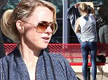 Despite hitting the gym daily, Naomi Watts still can't escape cellulite. The English actress revealed a few booty bumps while sporting skin tight yoga pants at Burn