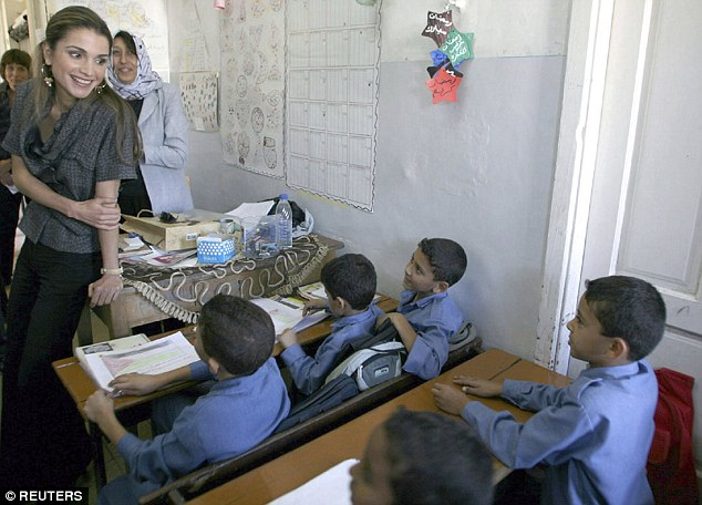 Passion: Her real passion is for education and boosting the chances of Jordan's poorest children