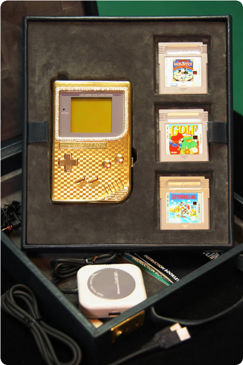 Gold Blinged Game Boy