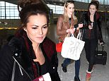 EXCLUSIVE: Kara Tointon and Sister Hannah are seen arriving at heathrow make up free and fresh faced before spending 20 minutes in the airport toilet doing there make up on. Kara was seen looking tired and fresh faced as she tried to check in at British Airways first class. (Picture taken: 10/02/2015)  Pictured: Kara Tointon & Hannah Tointon  Ref: SPL946469  110215   EXCLUSIVE Picture by: Splash News  Splash News and Pictures Los Angeles: 310-821-2666 New York: 212-619-2666 London: 870-934-2666 photodesk@splashnews.com