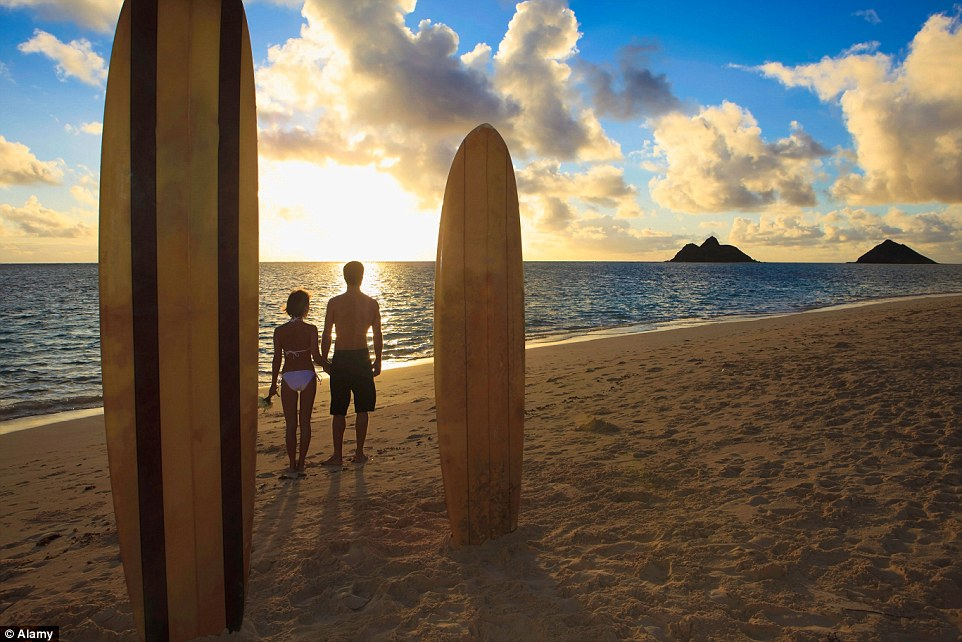 Hawaii will offer the couple to help each other through the waves for a more action-packed romantic time