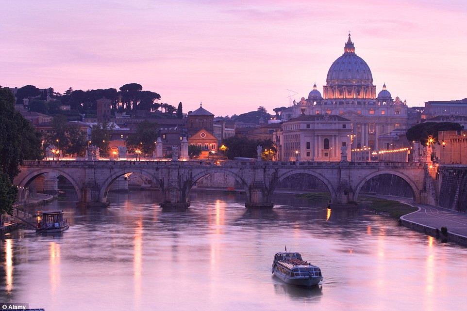 Rome, with its Vatican City view to St Peters Basilica over River Tiber is a beautiful spot and a key stop-off on the 30-day trip