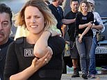 "Actress Rachel McAdams got hurt while filming an intense scene for the hit show ""True Detective"" filming in downtown Los Angeles. Rachel seen holding her elbow after filming a gun fight foot chase scene with suspects as she plays a detective for the show. Featuring: Rachel McAdams Where: Los Angeles, California, United States When: 11 Feb 2015 Credit: Cousart/JFXimages/WENN.com"