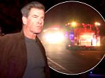 "EXCLUSIVE: A large fire damages Pierce Brosnan's huge Malibu mansion. A concerned Pierce and his family talk to firefighters and Sheriff's and when asked about the fire he says ""What do you think is going on?"".  Pictured: Pierce Brosnan Ref: SPL948863  120215   EXCLUSIVE Picture by: Splash News  Splash News and Pictures Los Angeles: 310-821-2666 New York: 212-619-2666 London: 870-934-2666 photodesk@splashnews.com"