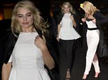 Margot Robbie arrives back at her hotel in London after her Premiere.\n\nPictured: Margot Robbie\nRef: SPL947888  110215  \nPicture by: Jesal / ben / Splash News\n\nSplash News and Pictures\nLos Angeles: 310-821-2666\nNew York: 212-619-2666\nLondon: 870-934-2666\nphotodesk@splashnews.com\n