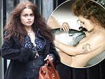 MUST BYLINE: EROTEME.CO.UK\nHelena Bonham Carter manages to get dressed in a very odd looking outfit after controversial nude images of the actress posing with a tuna were recently revealed.  The 48-year old wore a blue tartan dress, with a black hooded jumper, thick black socks and black platform shoes.  Helena separated from her partner of 13-years director Tim Burton last year.\nEXCLUSIVE    February 12,  2014\nJob: 150212L1    London, England\nEROTEME.CO.UK\n44 207 431 1598\n