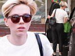 Scarlett Johansson back in LA with short hair Caption: Please contact X17 before any use of these exclusive photos - x17@x17agency.com   Scarlett Johansson shopping in Santa Monica with very short