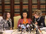 Two woman Linda Brown and Lise-Lotte Lublin giving out Press Conference for being assaulted by Bill Cosby   Pictured: Linda Brown and Lise-Lotte Lublin Ref: SPL930683  120215   Picture by: Hayk Arsham / Splash News  Splash News and Pictures Los Angeles: 310-821-2666 New York: 212-619-2666 London: 870-934-2666 photodesk@splashnews.com