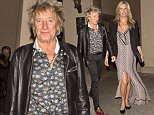 EXCLUSIVE: Singer Rod Stewart and his model wife Penny Lancaster were seen leaving French Restaurant 'Bouchon' in Beverly Hills, CA. Rod was s=wearing black trousers, a leather jackets with leopard print stylish shoes.  Pictured: Penny Lancaster Ref: SPL949761  120215   EXCLUSIVE Picture by: SPW / Splash News  Splash News and Pictures Los Angeles: 310-821-2666 New York: 212-619-2666 London: 870-934-2666 photodesk@splashnews.com
