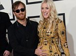 LOS ANGELES, CA - FEBRUARY 08: Dan Auerbach of the Black Keys and Jen Goodall arrive for the 57th Grammy Awards at Staples Center on February 8, 2015 in Los Angeles, California.\n\nPHOTOGRAPH BY UPI /Landov / Barcroft Media\n\nUK Office, London.\nT +44 845 370 2233\nW www.barcroftmedia.com\n\nUSA Office, New York City.\nT +1 212 796 2458\nW www.barcroftusa.com\n\nIndian Office, Delhi.\nT +91 11 4053 2429\nW www.barcroftindia.com