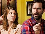 Sharon Horgan and Rob Delaney who have made the Channel 4 comedy Catastrophe together.  Photographed at Norman's Coach and Horses, Soho. Please credit location if poss.  Photo by Linda Nylind. 8/1/2015. For G2