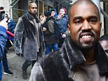 Kanye West cracked a smile, but looked determined as he left Adidas offices in NYC. He breezed past a few fans as he hurried to his car. He raced in his home where a crowd of around thirty had gathered.\n\nPictured: Kanye West\nRef: SPL949811  120215  \nPicture by: 247PAPS.TV / Splash News\n\nSplash News and Pictures\nLos Angeles: 310-821-2666\nNew York: 212-619-2666\nLondon: 870-934-2666\nphotodesk@splashnews.com\n