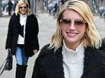 Picture Shows: Emma Roberts  February 12, 2015\n \n 'American Horror Story' actress Emma Roberts is spotted out on a snowy day in New York City, New York with a friend. Emma looked cute in a black coat, blue jeans and black knee-high boots.\n \n Non-Exclusive\n UK RIGHTS ONLY\n \n Pictures by : FameFlynet UK � 2015\n Tel : +44 (0)20 3551 5049\n Email : info@fameflynet.uk.com