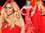 NEW YORK, NY - FEBRUARY 12: Laverne Cox walks the runway at the Go Red For Women Red Dress Collection 2015 presented by Macy's fashion show during Mercedes-Benz Fashion Week Fall 2015 at The Theatre at Lincoln Center on February 12, 2015 in New York City.  (Photo by Frazer Harrison/Getty Images for Go Red)