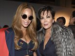 NEW YORK, NY - FEBRUARY 12: Beyonce(L) and Kris Jenner pose backstage at the adidas Originals x Kanye West YEEZY SEASON 1 fashion show during New York Fashion Week Fall 2015 at Skylight Clarkson Sq on February 12, 2015 in New York City.  (Photo by Kevin Mazur/Getty Images for adidas)