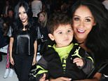 NEW YORK, NY - FEBRUARY 12:  Nicole 'Snooki' Polizzi attends the Nike Levi's Kids fashion show during Mercedes-Benz Fashion Week Fall 2015 at The Salon at Lincoln Center on February 12, 2015 in New York City.  (Photo by Cindy Ord/Getty Images for Mercedes-Benz Fashion Week)