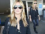 Heidi Klum is seen arriving at LAX airport, 12 February 2015. 12 February 2015. Please byline: Vantagenews.co.uk