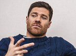 Xabi Alonso talks to Jamie Carragher at the Bayern Munich training ground in Germany  Football feature, Picture Graham Chadwick