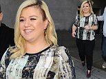 17 February 2015. Kelly Clarkson seen at BBC Radio 1 this morning. Credit: Ben Eade/GoffPhotos.com   Ref: KGC-102