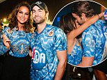 UK CLIENTS MUST CREDIT: AKM-GSI ONLY EXCLUSIVE: *SHOT ON 02/15/15* Rio de Janeiro, Brazil - Chace Crawford, who is currently in Rio promoting the brand 'John John,' had a very eventful night at the Antartica Beer VIP area during Carnaval festivities last night. Chace learnt to samba with Brazilian soccer star Neymar's ex, Bruna Marquezine, who was all smiles while chatting and drinking with the 'Gossip Girl' star.  Pictured: Chace Crawford Ref: SPL953480  160215   EXCLUSIVE Picture by: AKM-GSI / Splash News