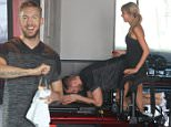 *** Minimum fee of   500 per set applies *** EXCLUSIVE ALLROUNDER Minimum Fee   500 for use of images from this set -Calvin Harris during a private pilates class Featuring: Calvin Harris Where: Beverly Hills, California, United States When: 16 Feb 2015 Credit: WENN.com