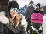 OIC - XCLUSIVEPIX.COM - EXCLUSIVE  FEES MUST BE AGREED - Tamara Ecclestone and husband Jay Rutland with her daughter Sophia and her father Bernie Ecclestone in holiday in Gstaad Switzerland 16th February 2015        Photo Xclusive Pix/OIC 0203 174 1069