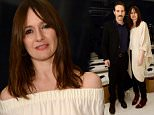 NEW YORK, NY - FEBRUARY 16:  Actor Alessandro Nivola (L) and actress Emily Mortimer attend the Zero + Maria Cornejo fashion show during Mercedes-Benz Fashion Week Fall 2015 at Location05 on February 16, 2015 in New York City.  (Photo by Ben Gabbe/Getty Images)